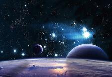 "CHOIS WM9009 Space Wall Mural Planet Satellite Light Stars wallpaper 100"" x 145"""