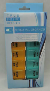 ONE AM/PM 7 Day Pill Box Organizer Medicine Daily Weekly Medication Holder Trips