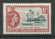 Br Solomon Is. 1963/4 Sg 104, 11/2d Slate Green & Red, LM/M [1329]