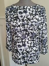 The Limited Size XL Abstract Floral Blouse Top Shirt 3/4 Sleeve Career Wear