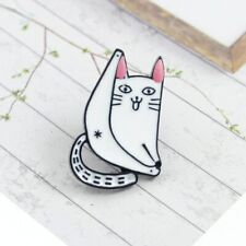 Lazy lying on the rocking chair Cute Cat forever enamel pin Cartoon white cat