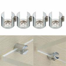 16pcs Glass Shelf Support Clamp Brackets Clip Polished Chrome Shelves 6-12mm