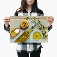 A3| Olive Oil Italian Cook Size A3 Poster Print Photo Art Restaurant Gift #3531