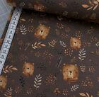 Jersey - Bär - Bären - Blätter - braun auf braun