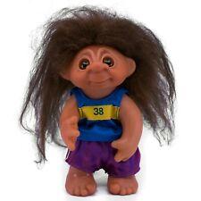 "Vintage Runner Exercise DAM Norfin Troll Doll 8.75"" Brown Wool Hair"