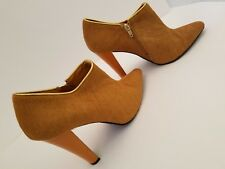 IMAN Women's Light Brown Ankle Boots Size 9M