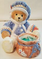 Cherished Teddies Bear With Votive Candle Holder Ceramic 178330