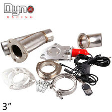 "3"" Remote Electric Exhaust Catback/Downpipe Cutout/E-Cut Out Valve System Kit"