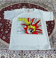 RARE!! Vintage roy lichtenstein whaam!! T-Shirt pop art punk rock Gildan New