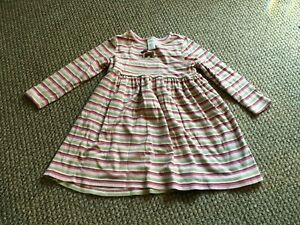 GIRLS DYMBOREE DRESS SIZE 6 LONG SLEEVE COTTON STRIPED SCHOOL CASUAL CLOTHES