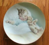 "Bessie Pease Gutmann ""Happy Dreams"" Hamilton Plate w/wall hanger -   43"