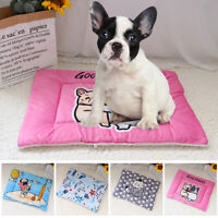 Pet Cat Dog Bed Mat Soft Crate Pad Warm Cushion Fleece Blanket for House Kennel
