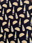 Custom 100% Cotton Woven Fabric Black Tacos & Corona Modelo Beer Per Yard
