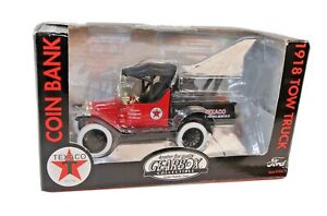 Vintage Gearbox Texaco 1918 Ford Pickup Tow Truck Die Cast Goodyear 1:24 in Box