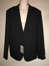Express Blazer Suit Jacket Black Stripe Photographer Fitted Mens 42 Reg NWT $298