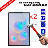 2Pcs Tempered Glass for Samsung Galaxy Tab S6 10.5 T860 T865 Screen Protector