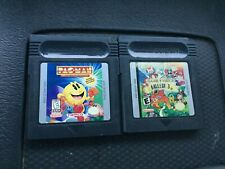 AUTHENTIC NINTENDO GAME BOY COLOR GBC GAME & WATCH GALLERY 3 & Pac Man