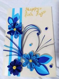 Handmade Quilling Greeting Cards Birthday Card