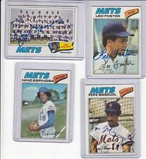1977 Topps signed Pepe Mangual  autograph Mets  w/COA
