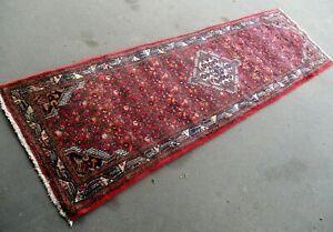 Vintage Middle Eastern Tajabad Rug Runner 286 x  85cm - with wear