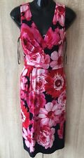 BEAUTIFUL RACE COCKTAIL PHASE EIGHT FLOWER PRINT WOMEN DRESS SIZE 8