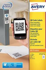 Avery Opaque QR Code Label 20 per Sheet 45x45mm White Square ref (i6y)