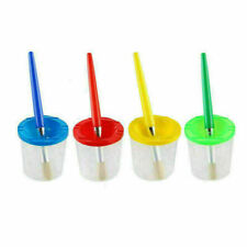 8 x Kid Painting Pen Paint Brush kits Paint Pen Cleaner Pot With Lid Pen Wash