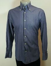 Massimo Dutti mens striped button down shirt  Large fitted