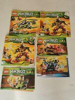 Lego Ninjago Builder Maunals Bundle 6 Manuals Only