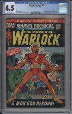 Marvel Premiere CGC 4.5 1st appearance of Him as Adam Warlock 1st Soul Gem