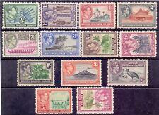 7/8.SOLOMON,1939-1951 SCOTT 67-79,MNH,BOATS,BIRD