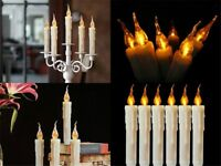 6Pcs LED Candle Light Battery Valentine Wedding Home Christmas Party Taper Light