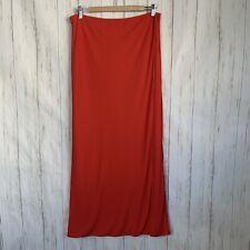 NWT Missoni Wrap Skirt Red Sz 12 Maxi Interior Orange