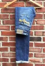 Diesel Lowky 71L Skinny Distressed Sequin Pocket Hems Jeans 25 * Italy RARE!