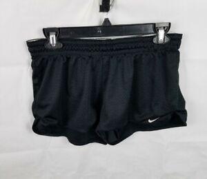 Nike Dri Fit Mesh Running Shorts Elastic Waist Black 542215-010 Women's Medium