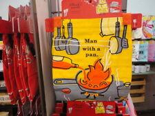 "Chef Quality Apron Retro Fun "" Man With A Pan "" Blue Q"