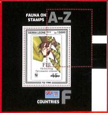 A4590 - SIERRA LEONE - ERROR MISPERF Souvenir sheet: 2019, Frogs, WWF