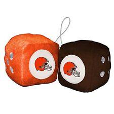 Cleveland Browns Fuzzy Dice NFL Football Team Logo Plush Car Truck Auto