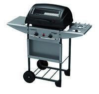 Barbecue Expert Deluxe a pietra lavica con 2 bruciatori a gas Gpl con fornello