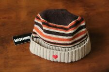 3c480e8ee1d3d MOSCHINO Women s 80% Wool Beige Brown Beanie Hat Free Shipping Italy Made w  Tags