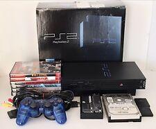 Sony PS2 PlayStation 2 Fat Console w/ HDD Hard Drive 30.7 GB Bundle w/ 6 Games