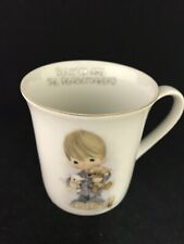 """Precious Moments """"Blessed Are The Peacemakers�Coffee Mug Jonathan & David 1978"""