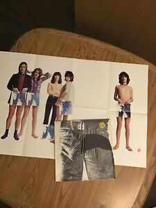 The Rolling Stones 'Sticky Fingers' 1970's zippered cover shrink + Promo poster