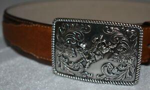 Boys Nocona Western Cowboy Belt with Bullrider Buckle Size 22 Style N4417602