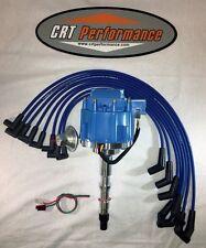 AMC/JEEP 1967-90 290,304,343,360,390,401 HEI DISTRIBUTOR & BLUE Plug Wires USA