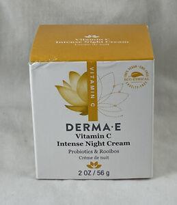 Derma E Vitamin C Intense Night Cream Probiotics 2 Oz / 56g EXP: 08-23 NIB