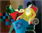 Modern Itzchak Tarkay Abstract Oil Painting Repro Living Room Canvas Wall art 53