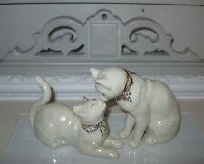 Lenox China Ivory Cat Figures Figurines Awake To A Kiss Set of 2