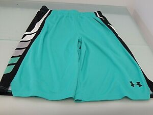 NEW Under Armour Youth Boys Size YLG Green Athletic Shorts Large NWT