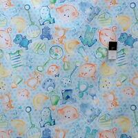 Kathy Davis PWKD086 Cutie Pie & Lullabies Cutie Pie Blue Fabric By Yard
